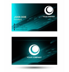 Technical business card vector