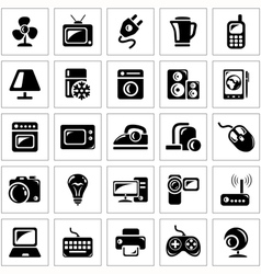 Electronics icons vector