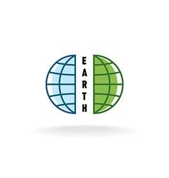 Earth globe logo vector image