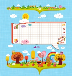 Hello autumn design elements for notebook bubble vector