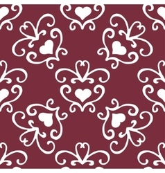 Valentine seamless hearts and love you pattern vector