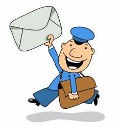 the postman vector image
