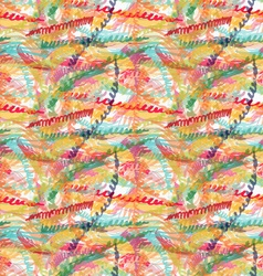 Rough brush colorful zigzag strips vector