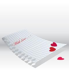 Love letter paper vector