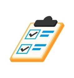 Notepad notebook with to do list isometric 3d icon vector