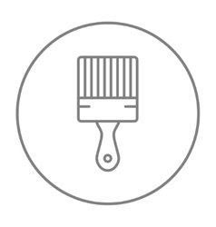 Paintbrush line icon vector