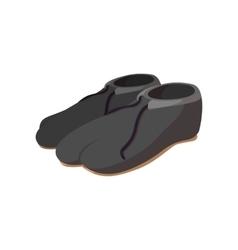 Japanese footwear cartoon icon vector image