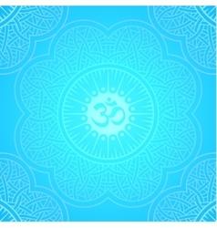 background round Yoga mandala vector image vector image