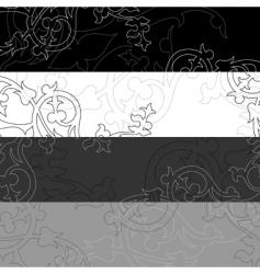 banner black white vector image vector image