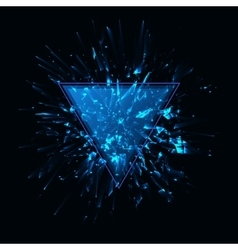 Blue techno style explosion vector image vector image