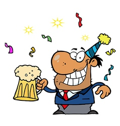 Businessman celebrating cartoon vector image vector image