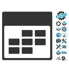 Calendar month grid icon with bonus vector