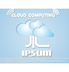 CLOUD COMPUTING NEW COLLECTIONS vector image vector image