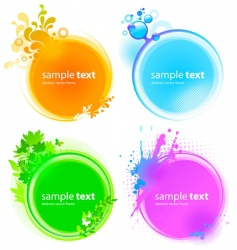 color round frames vector image vector image
