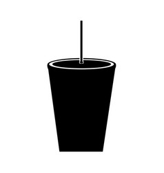 Drink plastic with straw vector