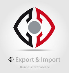 Export and import business icon vector