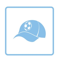 Football fans cap icon vector
