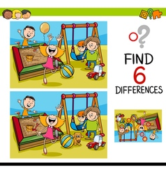 Game of differences with kids vector