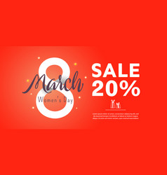 Greeting card since 8 march 20 percent vector