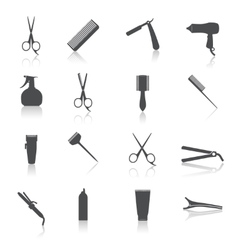 Hairdresser Icons Set vector image vector image