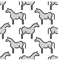 kids seamless pattern horse vector image