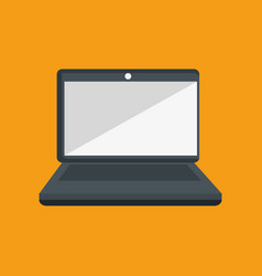 laptop computer device icon vector image