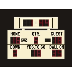 Led american football scoreboard with fully vector