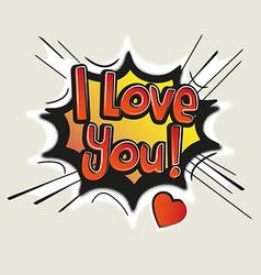 Love Comic Speech Bubble vector image