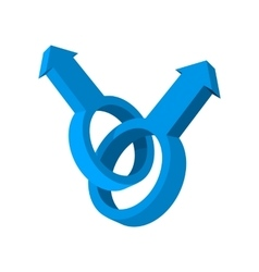 Male gay symbol cartoon icon vector image vector image