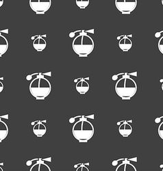 Perfume icon sign seamless pattern on a gray vector