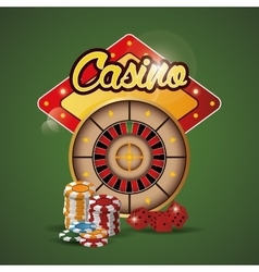 Roulette chips dice casino las vegas icon vector