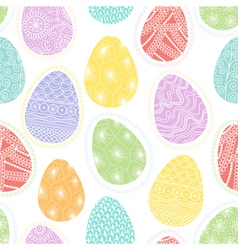 Seamless pattern with decorative Easter eggs vector image