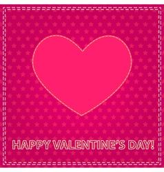sew valentine vector image vector image