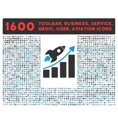 Startup Icon with Large Pictogram Collection vector image vector image