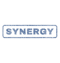 Synergy textile stamp vector