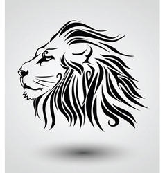 Tribal lion vector image vector image