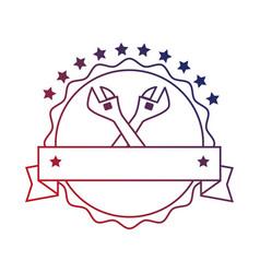 Wrenchs labour day celebration emblem vector
