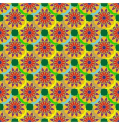 Geometric seamless pattern with fractal flower in vector