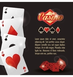 Cards dice casino las vegas game icon vector
