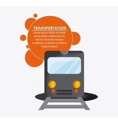 Train transportation vehicle travel vector