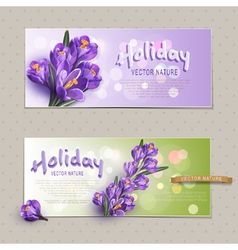 Set two greeting cards vector