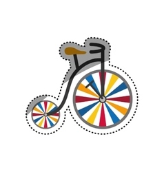 vintage circus bicycle vector image