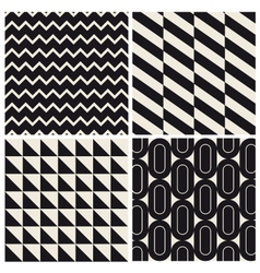 Geometric pattern background set vector