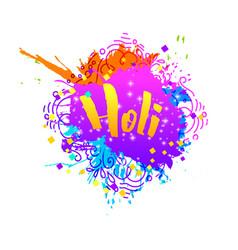 Holi holiday greeting abstract logo emblem vector