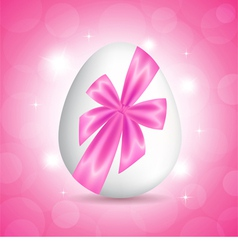 Pink card for easter vector