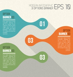 3 option banners retro infographic vector