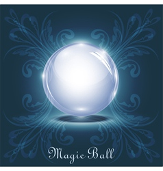 3d magic ball vector image