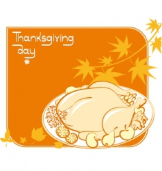 Thanksgiving meal vector