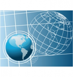 world drawing vector image