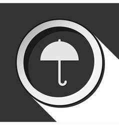 Black icon - umbrella with shadow vector